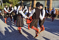 Folk dancing Stock Photography