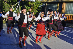 Folk dancing Stock Images