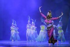 Folk dansare för kvinnligt södra fujian landskap Fotografering för Bildbyråer