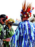 Folk dansare på den Swanage festivalen Royaltyfria Foton