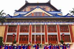 Folk dansare Sun Yat-sen minnes- Guangzhou Guangdong Kina Royaltyfri Foto