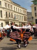 folk deltagare riga Royaltyfri Bild