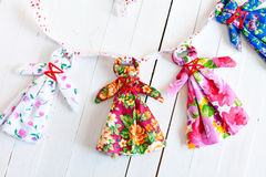 Folk Doll amulet for babies handmade Stock Photos