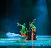 Folk drum -The dance drama The legend of the Condor Heroes Royalty Free Stock Images