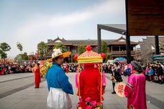 Folk egen för kinesiskt folk i den wuhan staden, porslin royaltyfri bild