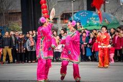 Folk egen för kinesiskt folk i den wuhan staden, porslin royaltyfria bilder