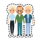 folk- eller familjemedlemsymbolsbild royaltyfri illustrationer