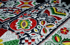 The folk embroidery. The detail moravian  folk costume of Kyjov Stock Photos