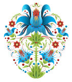 Folk embroidery with flowers - traditional ethnic pattern. Folk embroidery with flowers - ethnic pattern royalty free stock photo