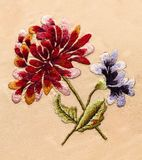 Embroidery, folk arts and crafts, handmade. Folk embroidery, Handmade embroidery, art royalty free stock images
