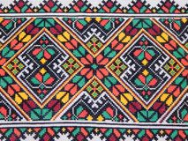 Folk embroidery - one of the oldest forms of applied art. royalty free stock photo