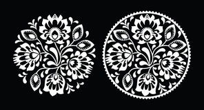 Folk embroidery - traditional polish pattern Stock Photos