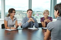 folk för affärsintervjujobb Royaltyfri Bild