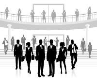 folk för affärskontor stock illustrationer