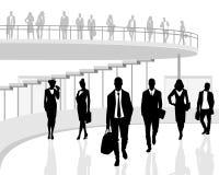folk för affärskontor vektor illustrationer