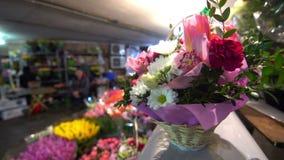 Folk för blommagatastad lager videofilmer