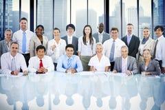 Folk för företags affär som möter Team Concept Fotografering för Bildbyråer