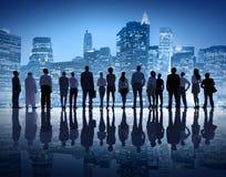Folk för global affär i New York City Arkivbild