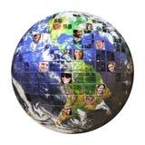 folk för globalt nätverk royaltyfri illustrationer