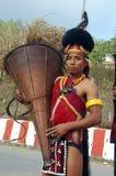 folk för india landnagaland arkivfoto