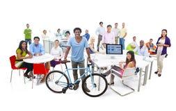 folk för kontor för affärsgrupp Arkivbild