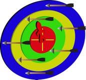 Folk för pil/target/a på uppsätta som mål Arkivbilder