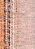Folk fabric. Of homespun cloth royalty free stock photography