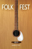 Folk fest poster Royalty Free Stock Photo