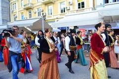Folk festival parade,Plovdiv,Bulgaria Royalty Free Stock Photography