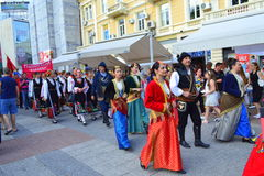 Folk festival parade,Plovdiv,Bulgaria Stock Images