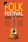 Folk festival poster Royalty Free Stock Images