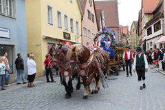 Folk Festival in Rothenburg ob der Tauber Stock Image