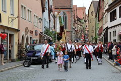 Folk Festival in Rothenburg ob der Tauber Stock Photos