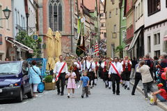 Folk Festival in Rothenburg ob der Tauber Stock Images