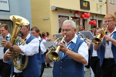 Folk Festival in Rothenburg ob der Tauber Stock Photo