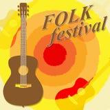 Folk Festival Shows Country Music And Ballard. Folk Festival Meaning Ethnic Music And Party Royalty Free Stock Photos