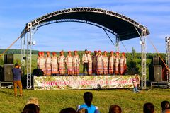 Folk festival `The Songs of Bezhin Meadow`. Folk festival `The Songs of Bezhin Meadow` which held every year in June in Russia in the birthplace of well-known Royalty Free Stock Photography