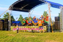 Folk festival `The Songs of Bezhin Meadow`. Folk festival `The Songs of Bezhin Meadow` which held every year in June in Russia in the birthplace of well-known Stock Images