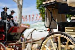Folk festivaler med vagnar och hästar royaltyfria foton