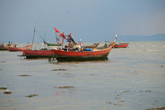 Folk fishery boat in thailand Royalty Free Stock Image