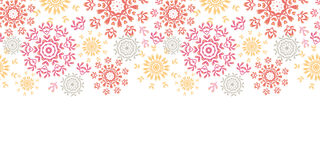 Folk floral circles abstract horizontal seamless Stock Photo