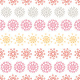 Folk floral circles abstract stripes seamless Royalty Free Stock Photo