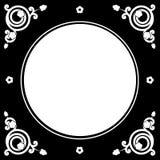 Folk floral frame Royalty Free Stock Photo