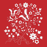 Folk floral ornament element Stock Photography