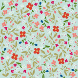 Folk Floral Seamless Vector Pattern Royalty Free Stock Photography