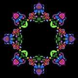 Folk floral wreath,. Vector folk abstract floral wreath. Polish folk ornaments Stock Photos