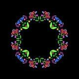 Folk floral wreath,. Vector folk abstract floral wreath. Polish folk ornaments Royalty Free Stock Photos