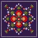 Folk flowers Stock Images