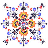 Folk flowers. Polish pattern folk with flowers vector illustration