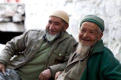 Folk från Baltistan, Indien Arkivbilder